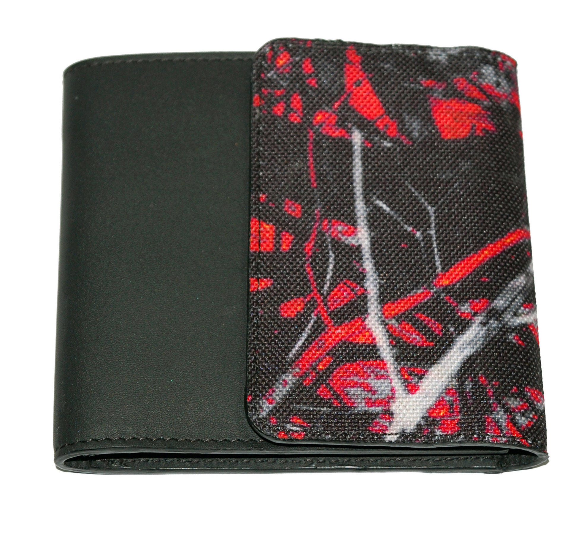 Printed Canvas with Leather Wallet