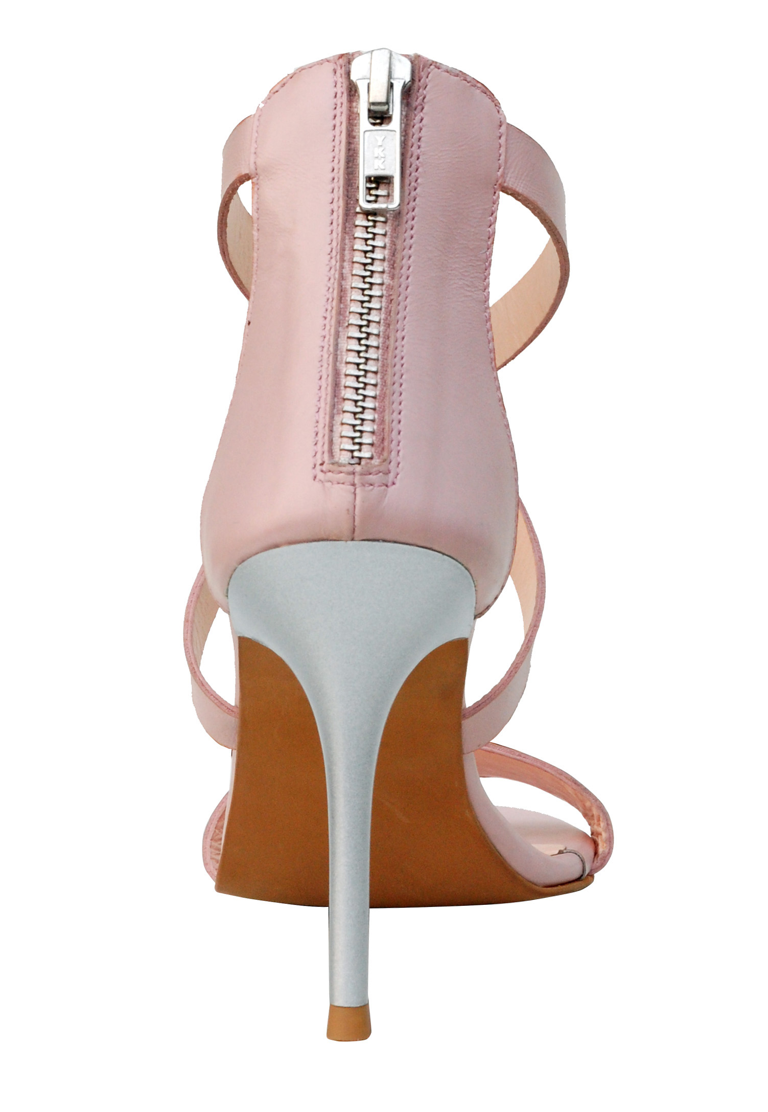 Delightful pink leather stilletto