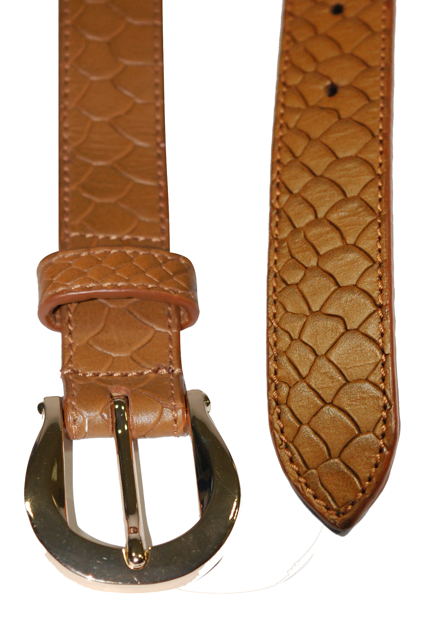 Croco Printed Leather Belt