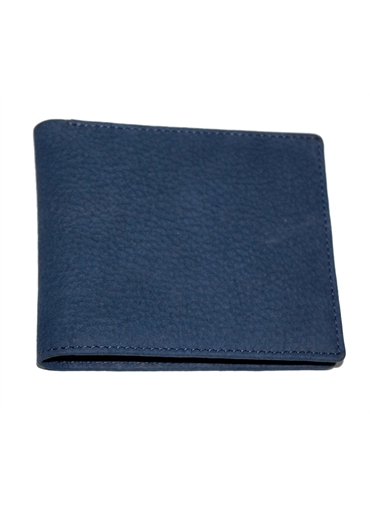 Blue Nubuck Leather Wallet