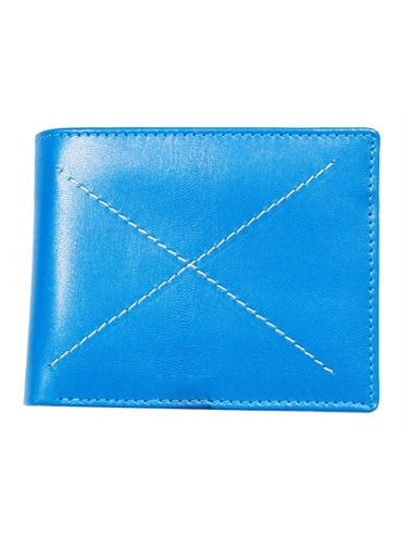 Blue finish Leather Wallet