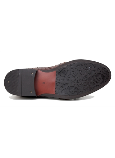 Leather Braided Slip on Shoe