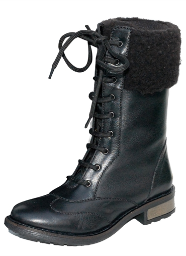 MID CALF LACE-UP BOOT