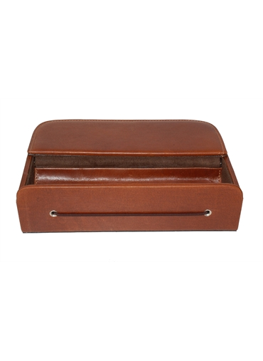 Leather Tablet stand with front Box